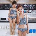 Соответствия мать дочь одежда семья одежда устанавливает женщин и девушка две пьесы рюшами купальников для пляжа одежда