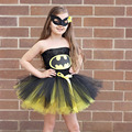 Batman Crianças Meninas Vestido Tutu Vestido de Festa a Fantasia Mulher Maravilha Superman Superhero Halloween Natal Aniversário TS089