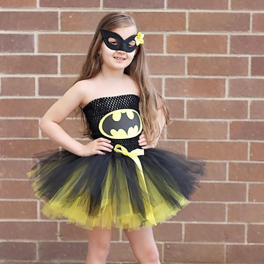 Batman Kinder Mädchen Tutu Kleid Superheld Halloween Weihnachten ...