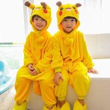 b4a1f76410 Los niños queso gato Pikachu Onesie oso Rilakkuma Totoro disfraz de  Halloween de niño niños niñas invierno Cosplay pijamas monos