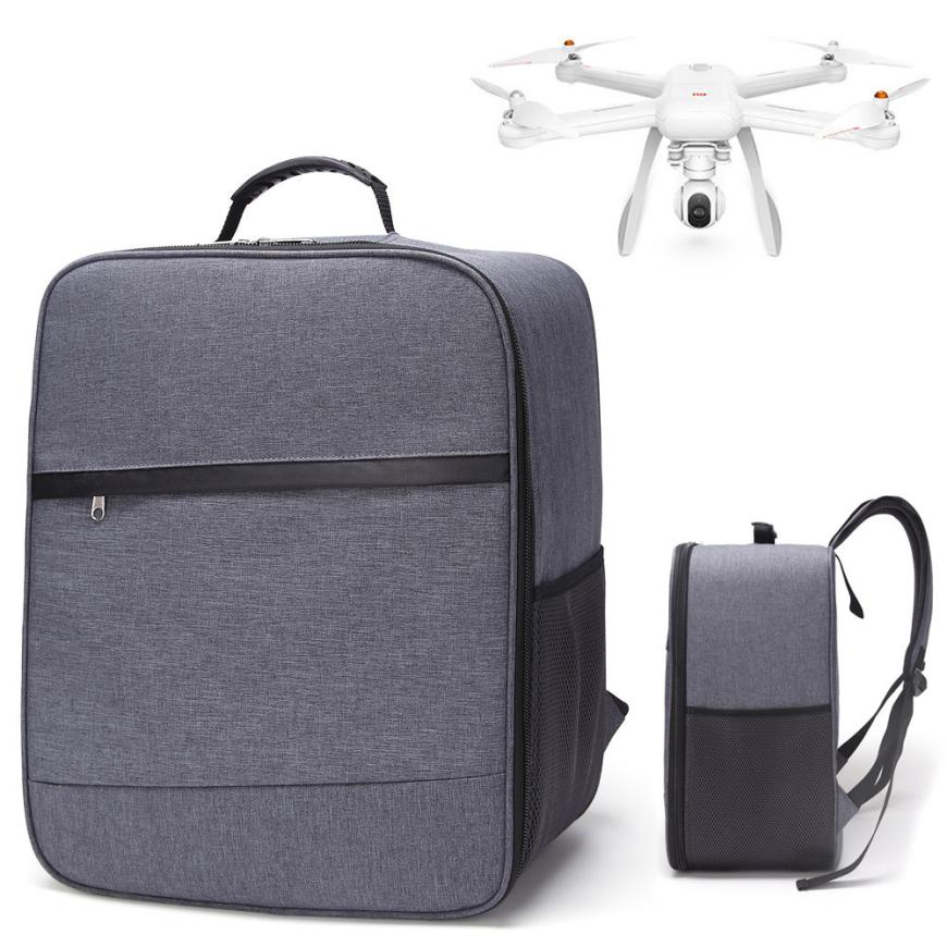 New Part For Rc Drone Outdoor Shockproof Backpack Shoulder Bag Soft Carry Bag For XIAOMI Mi Drone 4K 1080P FPV  Drone Parts t227 rc drone bag pu shell waterproof storage bag carry case handbag for dji spark rc drone quadcopter accessories