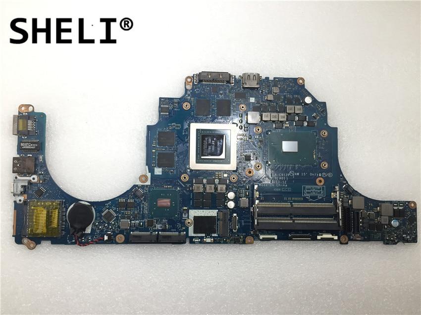 SHELI pour Dell Alien-ware 17 R3 15 R2 carte mère avec I7-6820HQ GTX980M 8GB LA-C912P