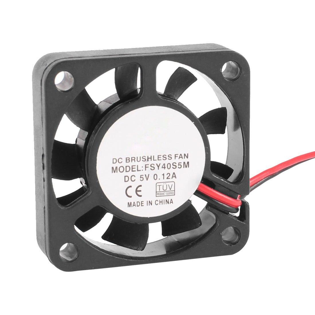 GTFS-40mm x 10mm 0.12A 2Pin 5V DC Brushless Sleeve Bearing Cooling Fan