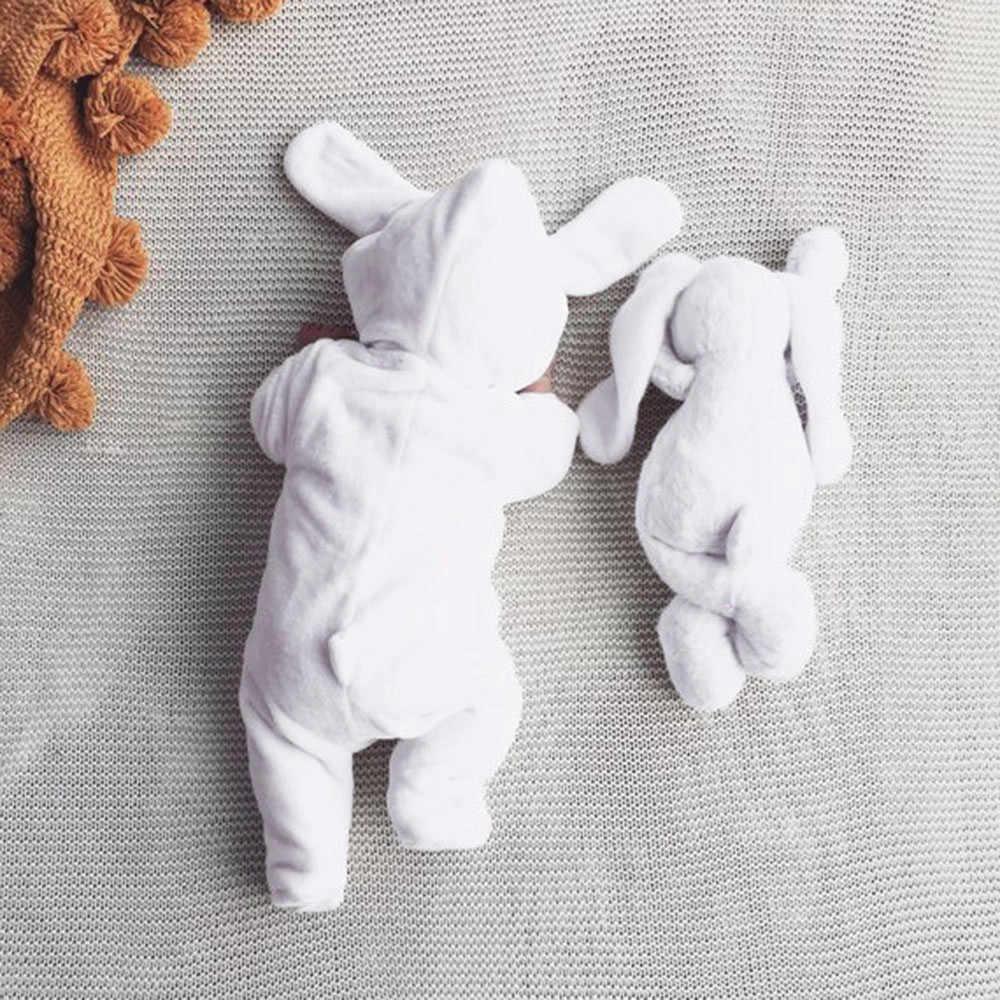 Nouveau-né vêtements enfant en bas âge bébé garçons filles dessin animé oreilles de lapin chaud à capuche body bébé body barboteuse combinaison Onesie bébé