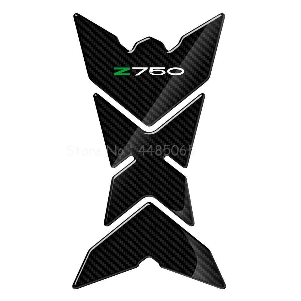 For Kawasaki Z750 Z750R Z 750 2007 2012 Motorcycle 3D Carbon Protector Decals Motorcycle Gas Tank Fuel Cap Decals in Decals Stickers from Automobiles Motorcycles