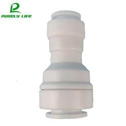 """1 шт. без пряжки 3/8 """"быстрое соединение до 1/4"""" быстрое соединение прямой фитинг для соединительной трубы RO аквариум системы пластик переход"""