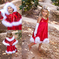 Hot Sale Merry Chritmas Happy 2017 Children Suit Baby Girls Santa Bow Paillette dress Girls Christmas Dress Free Shipping
