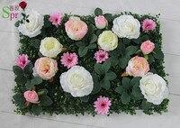 2017 nueva boda SPR hierba Artificial peonía rosa flor de pared telón de fondo arco flor arreglo floral decoraciones envío gratis
