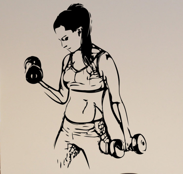 Aliexpresscom Buy Fitness Gym Wall Decal Athletic Sport Girl