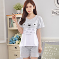 2017 - Women's Summer Style Grey Totoro pattern Cute Home wear