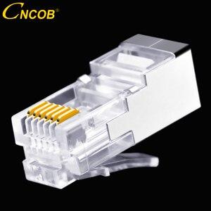 Image 2 - 50 шт., длинный корпус RJ11 RJ12 6P6C, телефонный соединитель FTP, 6 ядер, кристальная головка для телефона, модульная вилка, щит, медный корпус