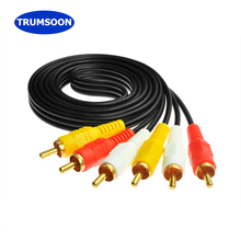 Trumsoon 3RCA to 3RCA 3X RCA Audio Video AUX Cable AV Line for Laptop DVD TV Amp