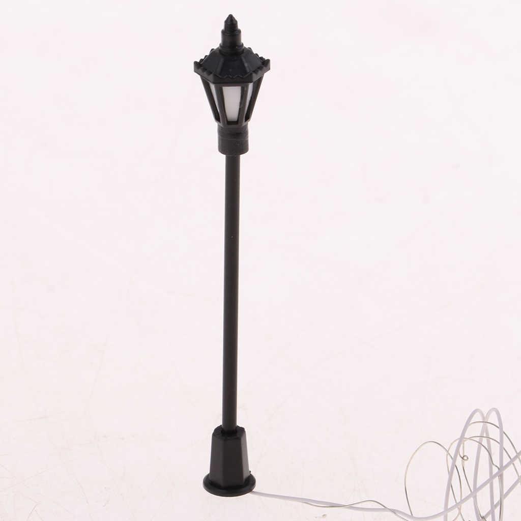 20pc1: 100 модель миниатюрное уличное освещение HO OO весы светодиоды Железнодорожный станционный фонарь пост сад пейзаж уличные фонари
