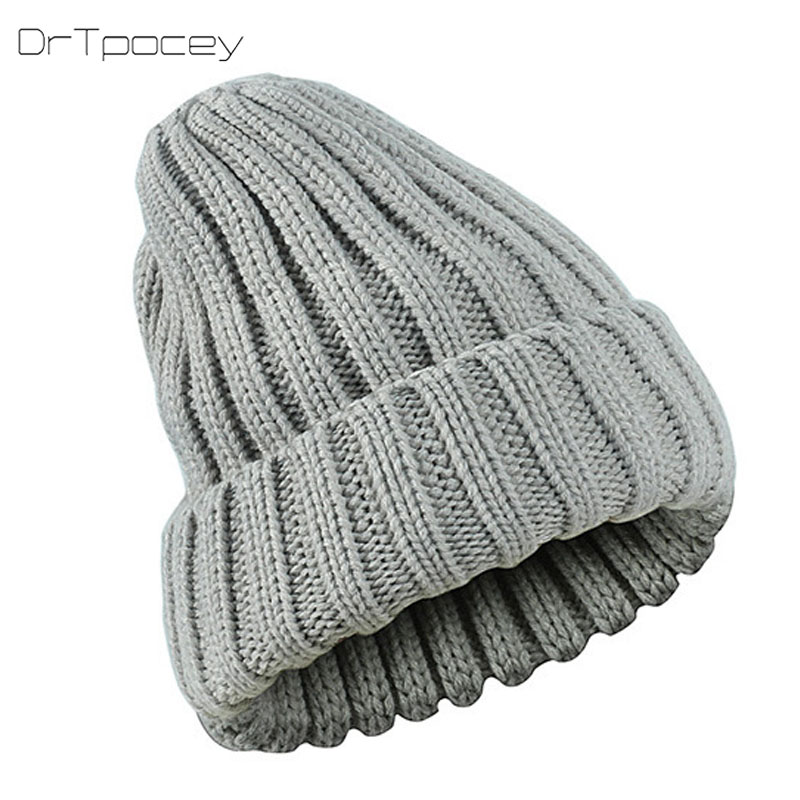 2018 Fashion Candy Colors Winter Hats For Women Knitted Beanie Hat Cap For Girls Brand Hat Men Women Beanie Ski Sports Warm Cap