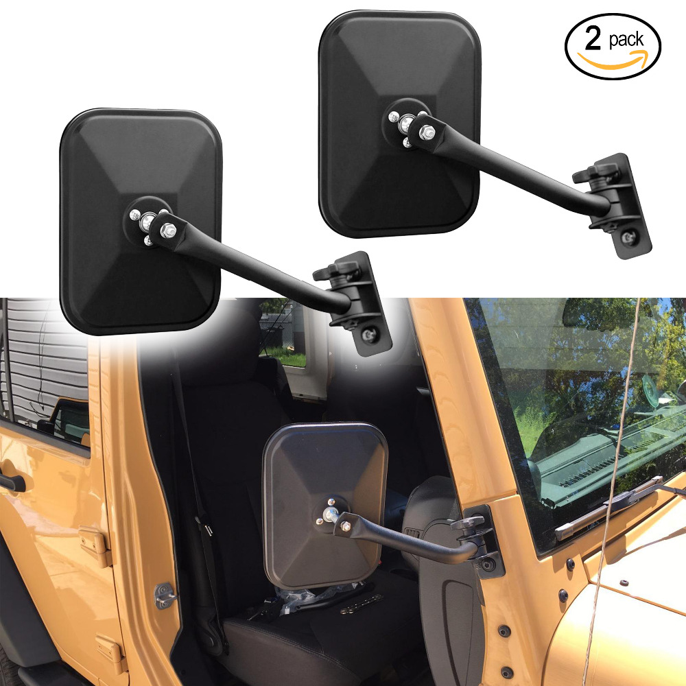 Iztoss Door Off Side View Mirror Rectangular Mirrors Fit For 1997 Jeep 2018 Wrangler Tj Jk Jku Textured Blackone Pair In Covers From Automobiles