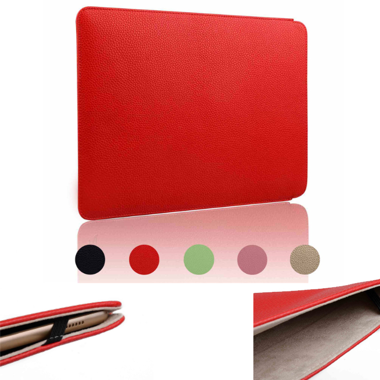 newest Fashion Laptop Sleeve bag For ipad pro 12.9inch lichi surface pu leather case for macbook air 11 macbook 12