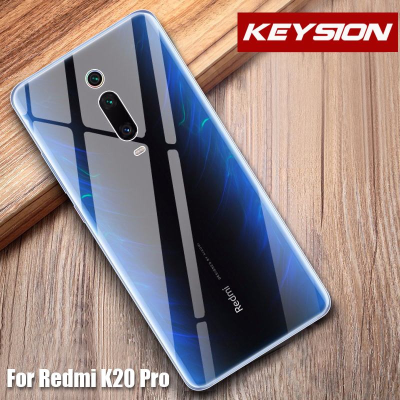 US $1 99 45% OFF KEYSION Phone Case for Xiaomi Mi 9T Pro for Redmi K20 Pro  Transparent Clear Crystal TPU Soft Back Cover For Xiaomi Redmi K20 Pro-in