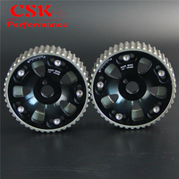Aluminum Cam Gear pulley Pair Fits For 91-95 Toyota MR2/MR-R/CELICA 3S-GTE SW20 Black