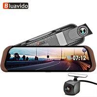 Bluavido 10 4G Android зеркало автомобиля видео Регистраторы gps навигации FHD 1080P тире Камера ADAS с 720 P задняя камера Wi Fi монитор DVR