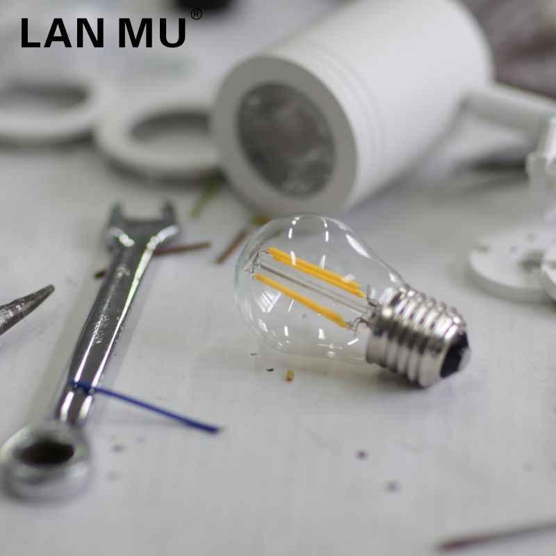 LED ampoule E27 E14 G45 AC 220V LED ampoule à billes en verre 2W 4W 6W Edison lampe Antique rétro Vintage LED Filament lumière