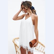 Robe Elegant Sexy Beach Party Chiffon Dress 2018 New Summer Fashion Sexy  Spagetti Strap Off Shoulder 197d5bdceeb0