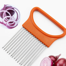 Guide Slicers Aid-Holder Tomato Cutting Onion Shrendders New 1/2pcs Safe-Fork