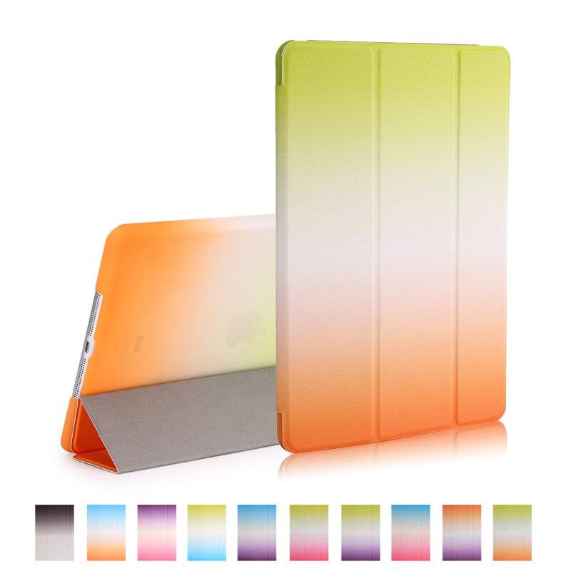 все цены на  smart case for ipad mini 2 3 rainbow gradient 7.9inch pu leather with pc full protector for apple ipad mini 3 fold  онлайн