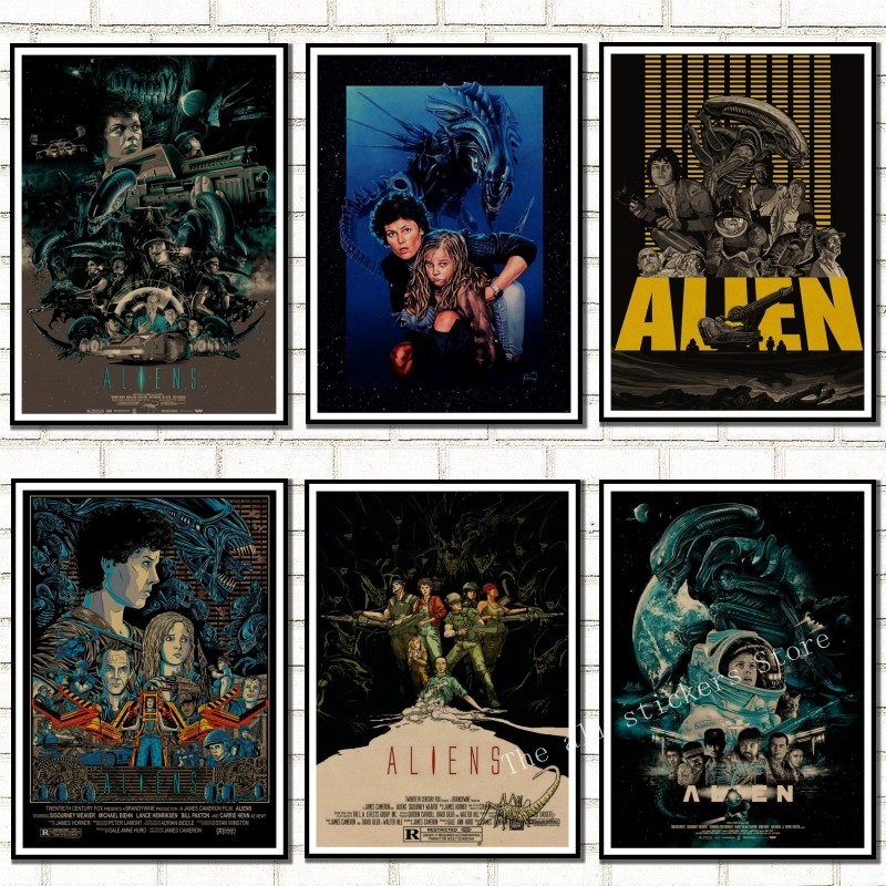 Alien Poster Home Furnishing Decoration Kraft Movie Poster Drawing Core Wall Stickers , House Decoration , Room Decoration ./806