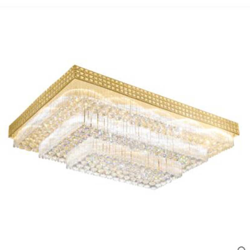 Европейская прямоугольная хрустальная потолочная лампа, лампа для гостиной, современные потолочные лампы для спальни, светодиодный светильник для ресторана, светодиодный светильник