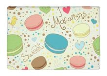 Floor Mat Lovely Yummy Colorful Cartoon Macarons paris Seamless Print Non-slip Rugs Carpets For Indoor Outdoor living room