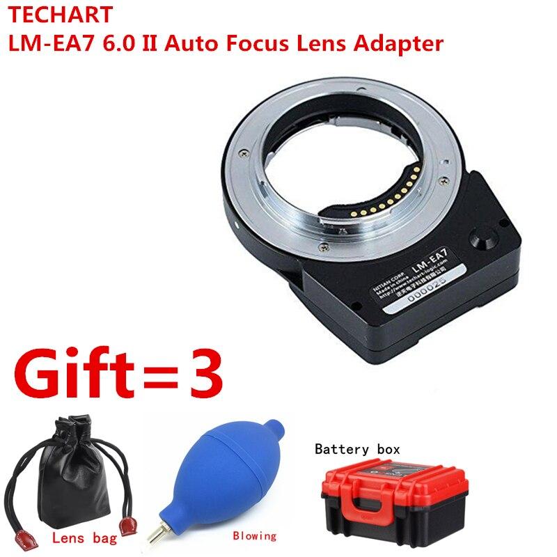 Nouvel adaptateur d'objectif de mise au point automatique TECHART LM-EA7 6.0 II pour objectif Leica M LM vers les caméras Sony NEX A7RII A6300 A9 A7SII