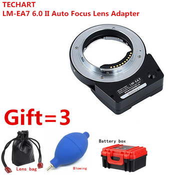 Nuevo TECHART LM-EA7 6,0 II lente de enfoque automático adaptador para Leica M LM lente a Sony NEX A7RII A6300 A9 A7SII cámaras