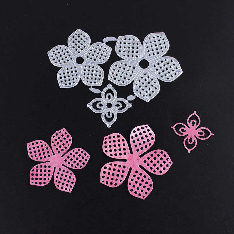 Mieszane kwiaty do cięcia metalu matryce szablony dla album na zdjęcia diy do scrapbookingu dekoracyjne wytłaczanie papierowych kartek Crafting Die cięcia
