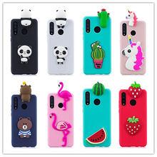 For Huawei P30 Pro Case 3D Cartoon Unicorn Panda Phone Cases Soft TPU Silicon Back Cover Lite P 30 case Coque