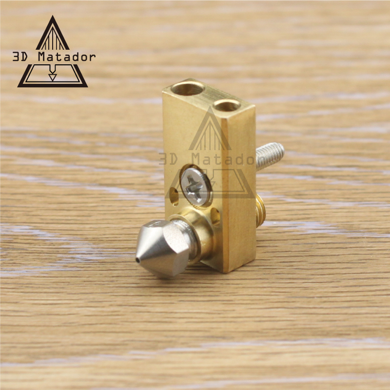 Free Shipping 3D Printer Ultimaker 2+ UM2 Extended+ Olsson Block Hotend Kit For 1.75mm/3mm Filament  Stainless Steel Nozzle