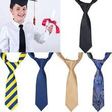 5 стилей, роскошный Шелковый Детский костюм с галстуком для мальчиков и школьников галстук, Маленькие Галстуки для колледжа, детская одежда школьная форма, галстук