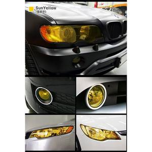Image 5 - 100*30cm Auto Car Light Headlight Taillight Film Sticker Easy Stick Car Motorcycle  Decoration 8 Colors