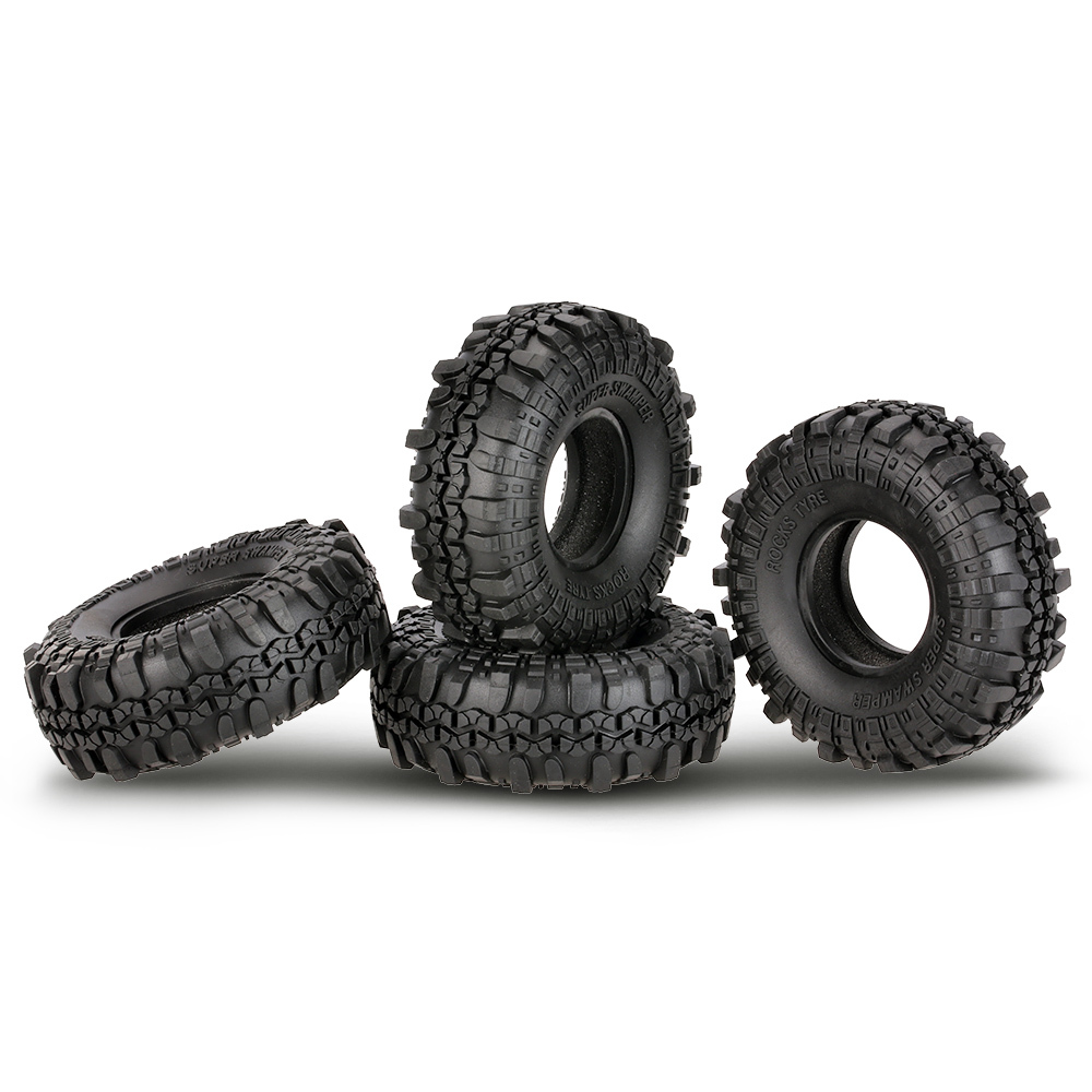 4Pcs AUSTAR AX-4020 1.9 Inch 110mm 1/10 Rock Crawler Tires For D90 SCX10 AXIAL RC4WD TF2 RC Car