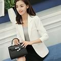 White/Gray Women's Blazer Feminino 2017 Spring Autumn Korean Fashion Casual Single Button Blazers Femme Ladies Office Jackets