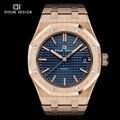 DIDUN Acero mens relojes de primeras marcas de lujo Relojes de Cuarzo de Los Hombres Relojes de Marca Hombres de Negocios Reloj Luminoso de Pulsera resistente al Agua