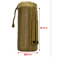Outdoor Tactical Water Bag Bottle Pouch Military Molle Pack Camouflage Gear Waist Back Plus for Sport Camping Hiking