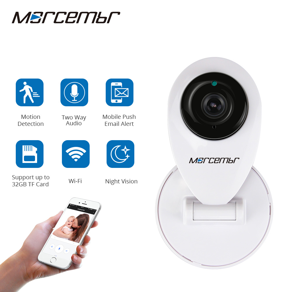 цены Morcembr IP Camera 720P HD Wireless Security Camera 1200TVL Night Vision CCTV Camera Baby Monitor IP Cameras Motion Detection
