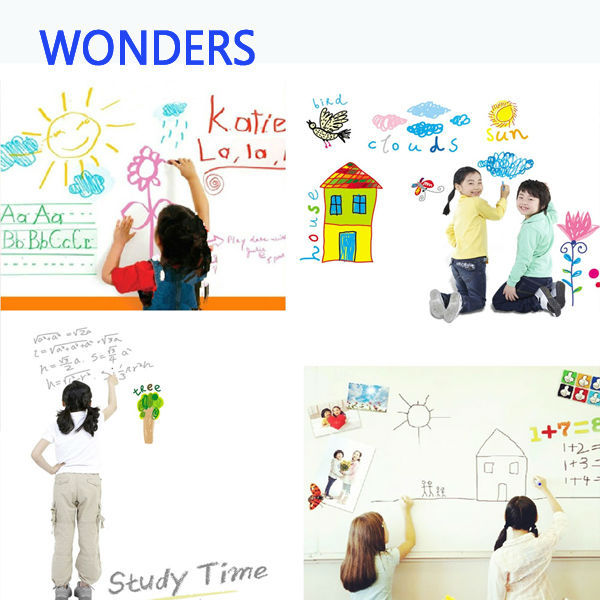 Wallpaper removable diy white board waterproof doodle wall decal chalkboard wall stickers for kidsbusiness