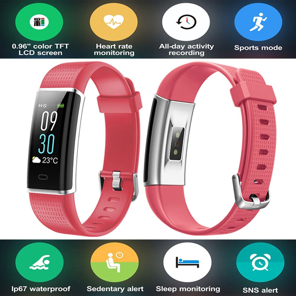 Color Screen Smart Wristband Band Sport Bracelet Heart Rate Carories Activity Fitness Tracker for iPhone Android Samsung Phones color screen smart wristband band sport bracelet heart rate carories activity fitness tracker for samsung galaxy s7 plus s6 edge