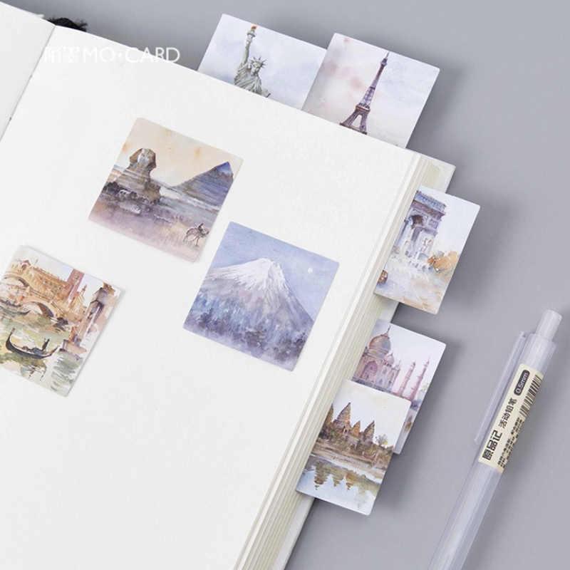 45 ピース/ロットヴィンテージ旅行世界紙ステッカー DIY 日記装飾ステッカープランナーアルバムスクラップブッキングかわいい文房具