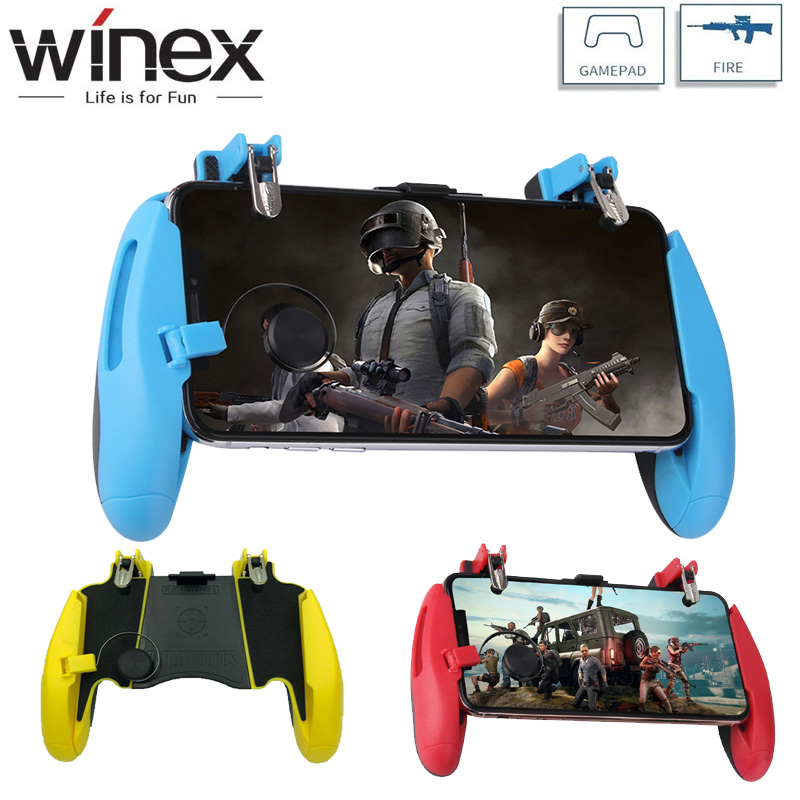 PUBG Mobile Game Controller Gamepad Trigger Aim Button L1R1 Shooter Joystick For IPhone Android Phone For Game Pad AccesoriosPUBG Mobile Game Controller Gamepad Trigger Aim Button L1R1 Shooter Joystick For IPhone Android Phone For Game Pad Accesorios