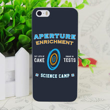 C2655 Aperture Science Camp Transparent Hard Thin Case Skin Cover For Apple IPhone 4 4S 4G 5 5G 5S SE 5C 6 6S Plus