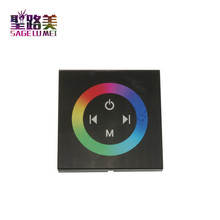 DC12V-24V RGB/RGBW single color wall mounted Touch Panel Controller glass panel dimmer switch Controller for LED RGB Strips lamp