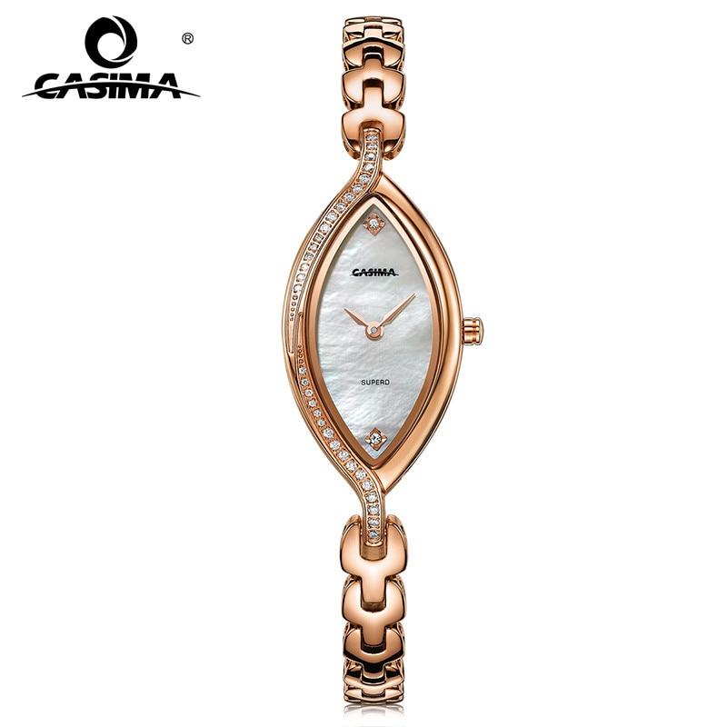 Модные Роскошные Брендовые женские часы браслет повседневные женские кварцевые часы из нержавеющей стали водонепроницаемые relojes mujer CASIMA 2609