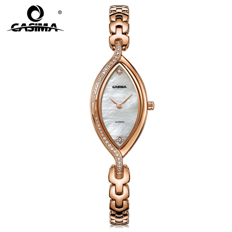 Fashion luxury brand Women's Bracelet Watches casual ladies quartz watch stainless steel waterproof relojes mujer CASIMA 2609 kimio brand luxury exquisite gold bracelet business ladies casual clock reloj mujer women fashion stainless steel quartz watch